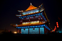 Night view of xi'an city wall